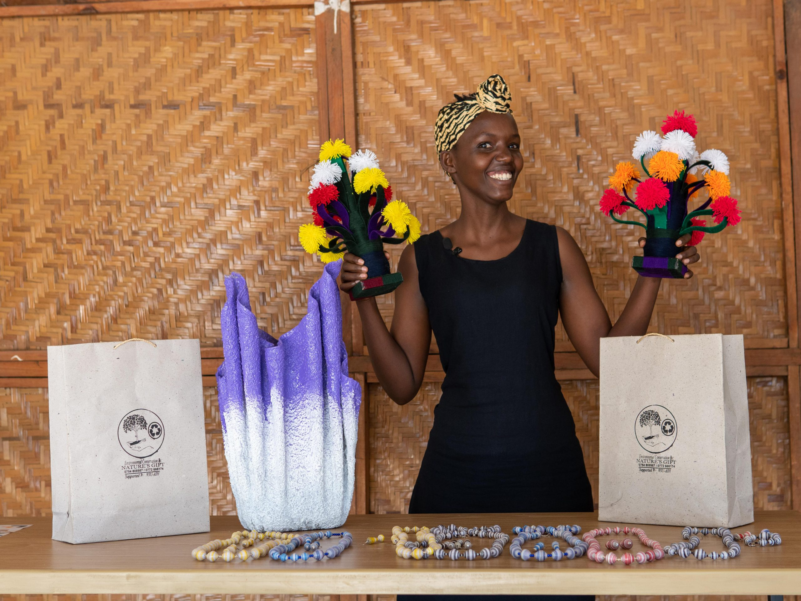 Patience adorned in colourful beads
